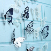 Xiaolanwelc@ 18pcs/lot 3D Adhensive Butterfly Wall Sticker Decorative Glowing For Kids Room Decors Home Decoration Art Wall Decals Mural PVC
