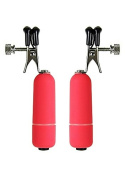 Ouch Vibrating Nipple Clamps Red