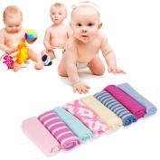 8 Pcs Baby Infant Newborn Kids Bath Towel Washcloth Bathing Feeding Wipe Cloth Soft Ft Kit Soft Good Care Colourful Comfortable