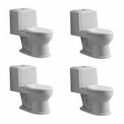 Child's Small Porcelain Toilet Potty Training Ceramic China Set of 4