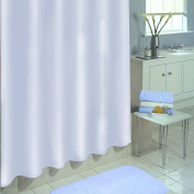 Excell Medium-Weight Eco-Friendly 100 percent PEVA Shower Curtain Liner, Anti Mildew, 180cm x 180cm , White