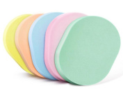 6PCS Oval Shape Soft Powder Puff Make Up Cosmetic Facial Cleansing Exfoliating Sponge Puff Natural Seaweed Cleansing Puff for Makeup Removal