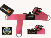 PINK 3-D Ankle/Foot Shoe Strap 3 -Ring Cable Gym Machine Attachment For Women Yoga, Pilates,