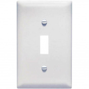 Nylon 1 Gang 1 Toggle Opening Wall Plate, White Pass and Seymour Wall Plates