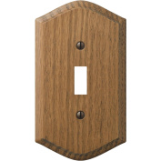 Amerelle Country Medium Oak Switch Wall Plate