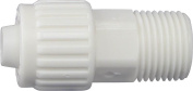 Flair-It 16842 Tube to Pipe Adapter, 1.3cm , PEX x MPT, White