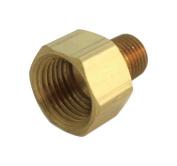 Jmf Adapter 0.3cm Fpt X 0.3cm Mpt Yellow Brass Lead Free
