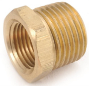 Anderson 756110-0604 Barstock Hexagonal Reducing Bushing, 3/8-18 x 0.6cm - 46cm , MNPT x FNPT, Brass