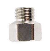 Jmf Faucet Compression Adapter Male 1cm Female X 0.6cm Male Chrome Bulk _ 0.25 % Lead