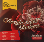 Permanent Paint Markers by Montico - Acrylic Marker Craft Paint Pens for Rocks, Wood, Metal, Ceramic, Glass, Canvas, Fabric Painting; Great Choice for Mug Customising & DIY Project - Medium Tip