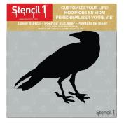 Raven Stencil 15cm x 15cm
