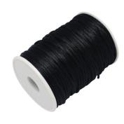 FQTANJU 2mm x 100 yards premium Quality Rattail Nylon Satin Cord Roll, Kumihimo Rattail,Chinese Knot,