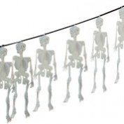 "Glow in the dark 60"" (152.4cm) 5 Skeleton Halloween Garland Party Decorations"