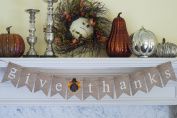 Thanksgiving Decoration, Give Thanks Banner, Turkey Décor
