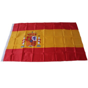 Snowfoller World Country National Day Polyester Spain Flag Ornament Home Outdoor Decoration 0.9m x 1.5m