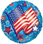 Kaleidoscope 87026 USA Flag & Stars 46cm Foil Balloon