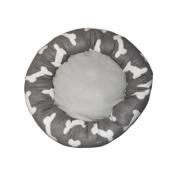 Kole Imports Grey Bone Print Pet Bed