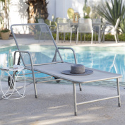 Coral Coast Sanders Steel Mesh Outdoor Chaise Lounge