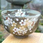 Kiyomizu ware flower darn powdered green tea bowl Yawata
