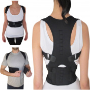 Thoracic Back Brace Posture Corrector - Magnetic Support for Back Neck Shoulder Upper Back Pain Relief Perfect Product for Cervical Spine Fully Adjustable with Magnets ARMSTRONG AMERIKA