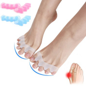 Toe Separators Gel Stretcher Bunion Corrector Splint for Hallux Valgus, Hammer Toe, Pain Relief Treatment, Easy Wear in Shoes for Women Men