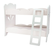 Doll Bunk Bed -46cm Doll Furniture set - (46cm White Floral) Fits American Girl Dolls