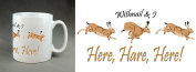 """Withnail & I quote """"Here, Hare, Here"""" 330ml Large Handle Mug. Christmas, birthday, stocking filler. Gift."""