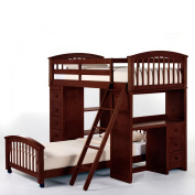 Hillsdale School House Student Loft With Twin Lower Bed, Cherry