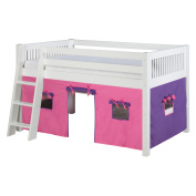 Camaflexi Twin Low Loft Playhouse Bed with Mission Headboard