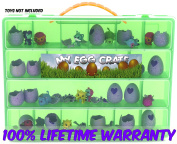 My Egg Crate Storage Organiser By Life Made Better - Compatible With The Hatchimals And Hatchimal Colleggtibles Brands - Durable Carrying Case For Mini Eggs, Easter Eggs & Speckled Eggs – Green