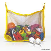 Bath Toy Organiser - Large Quick Drying Mesh Net with 2 Extra Strong Hooked Suction Cups - Best For Baby Bath Toy Storage