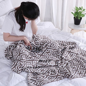 Cotton knit Blanket spring Autumn Winter Blankets for Bed / office / sofa rest comfortable blanket120*160cm, Chu colour, 120x160cm