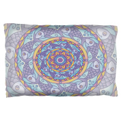Mandala Trippy Stained Glass Fish Pillow Case Multi Standard One Size
