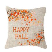 Inverlee 18x18inchs Fall Maple Pillow Case Throw Cushion Cover Home Decor