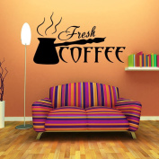 Lavany Coffee Cups Kitchen Wall Stickers Cafe Vinyl Art Decals Pub Cafe Home Decals, Wall Paper Home Decorative