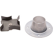Moultrie Metal Spinner Plate and Funnel Kit, Silver