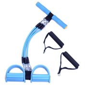 Ueasy weight loss Pull Rope Abdominal Trainers with Handle Resistance Band Multifunction Leg Exerciser Pull-up Exerciser Sit-up Exerciser