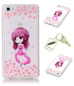 Slim Bumper Case PU Case for Huawei P8 Lite Soft Protective Flexible Soft Lightweight Shock Resistant. Slim Silicone Cover Case Cover Cap – Photo Frame Keychain # AH 6