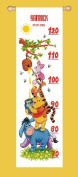 Disney Winnie and Friends Height Chart Counted Cross Stitch Kit