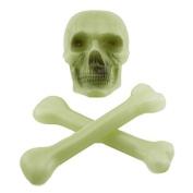 Tytroy Glow in the Dark Creepy Cross Bones Skull Halloween Decoration Accessory Prop