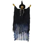 Tytroy Creepy LED Flashing Hanging Animated Witch Figure Halloween Decoration Prop