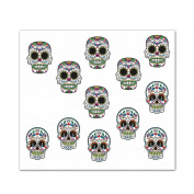 Water Soluble Nail Art Decals / Wraps with Fantastic Designs - halloween, skull