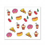 Water Soluble Nail Art Decals / Wraps with Fantastic Designs - candy, pizza