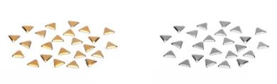 ESTROSA Studs Metal Studs – Triangle 24 + 24