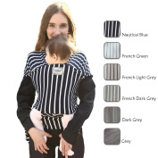 Hatched! Soft Breathable Natural Cotton Baby Sling Wrap Carrier - Soft & Comfortable - Lightweight Carrier Suitable for Infants - Breast Feeding Cover - Stripes