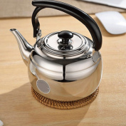 Xuan - worth having Household Stainless Steel Teapot Hotel Kitchen Tea Kettle Can Be Heated By Induction Cooke 1L teapot