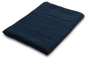 100% LINEN BATHROOM HAND Towel - made in Baltic region - dark Blue Navy - with cheques - for hands, face - sauna, spa, gym use