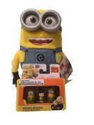 Bundle - Despicable Me Huggable Plush Minion Dave Toy Figure and Assorted Micro Minion Playset