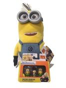 Bundle - Despicable Me Huggable Plush Minion Tim Toy Figure and Assorterd Micro Minion Playset