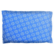 D20 Gamer Critical Hit and Fumble Blue Pattern Pillow Case Multi Standard One Size